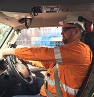 Driver in Hi-Vis