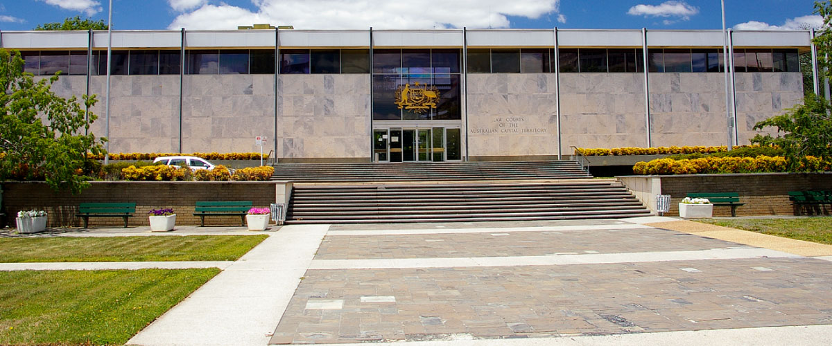 Facade of the ACT Law Courts