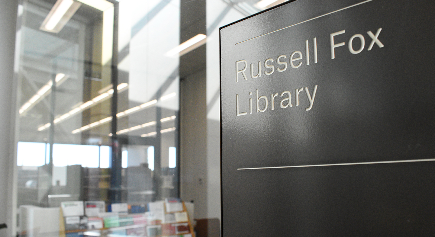 Russell Fox Library signage